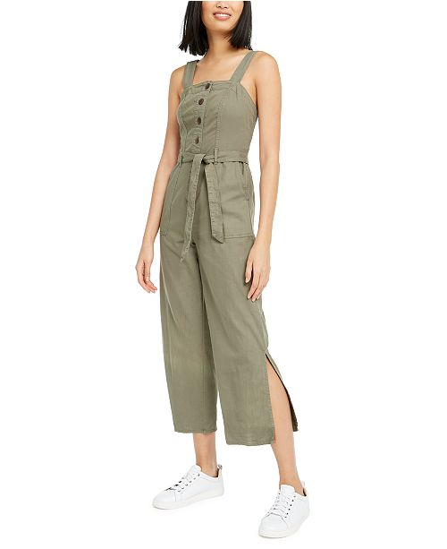 OAT Smocked Sleeveless Cotton Jumpsuit