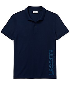 Men's Motion Regular-Fit Reflective Logo-Print Piqué Polo Shirt
