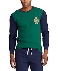 Men's Logo Crest Waffle Pajama Shirt, Created for Macy's