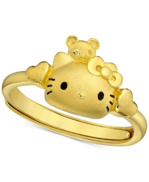 Hello Kitty Statement Ring in 24k Gold