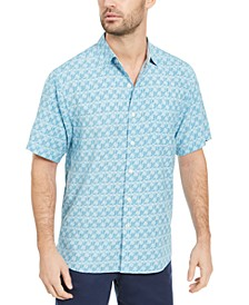 Men's Palms Away Geo-Print Shirt