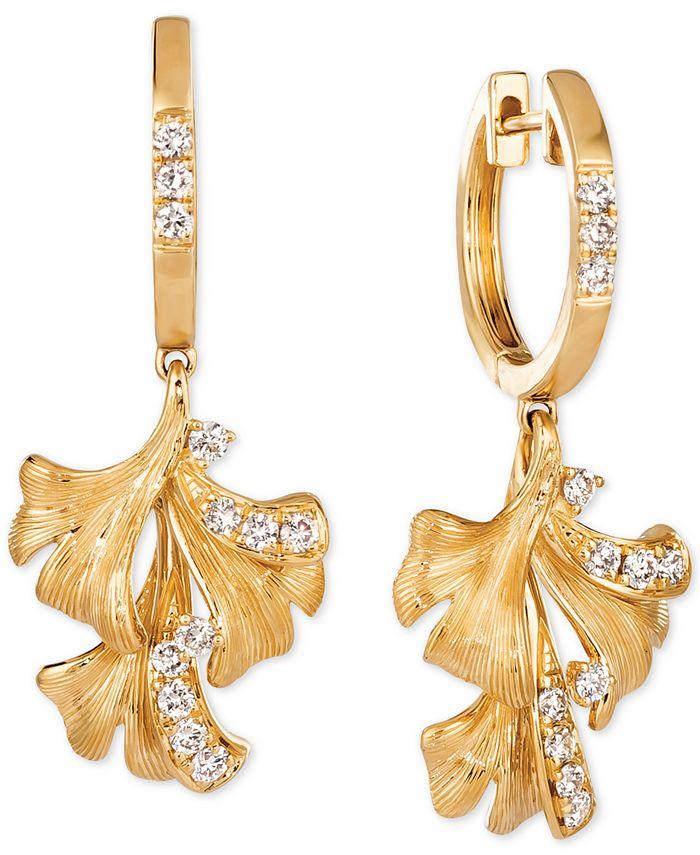 Le Vian - Nude Diamond Flower Drop Earrings (3/8 ct. t.w.) in 14k Gold