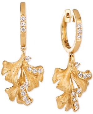 Nude Diamond Flower Drop Earrings (3/8 ct. t.w.) in 14k Gold