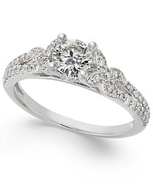 Diamond Engagement Ring (3/4 ct. t.w.) in 14k White Gold