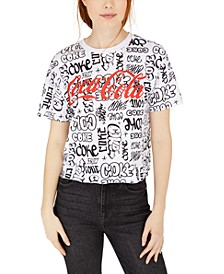 Juniors' Coca-Cola Graffiti Graphic T-Shirt