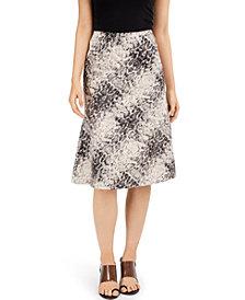 INC EARTH Snake-Print Midi Skirt, Created for Macy's