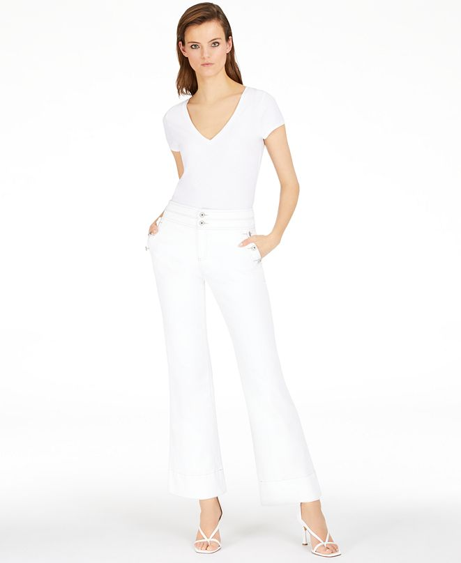 INC International Concepts INC High-Rise Sailor Trouser Jeans, Created for Macy's