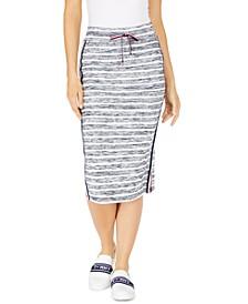 Drawstring Midi Pencil Skirt