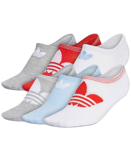 adidas 6-Pk. Trefoil Superlite No-Show Women's Socks