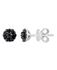 Black Diamond (3/8 ct. t.w.) Earring in 14K White Gold