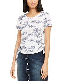INC Petite Cotton Printed Tie-Hem Top, Created for Macy's