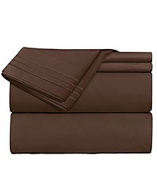 Premier 1800 Series 3 Piece Deep Pocket Bed Sheet Set, Twin XL