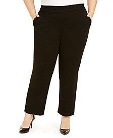 Plus Size Pull-On Modern Dress Pants