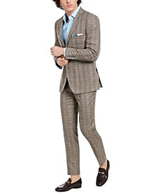 Dover Slim-Fit Tan & Blue Plaid Jacket & Dress Pants