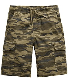 Toddler Boys Camouflage Textured Canvas Cargo Shorts, Created for Macy's