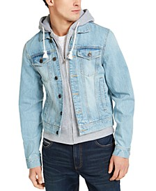 Men's Phoenix Trucker Hooded Denim Jacket, Created for Macy's