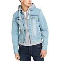 Sun + Stone Men's Phoenix Trucker Hooded Denim Jacket