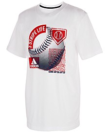 Big Boys Baseball Cotton T-Shirt
