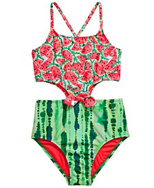 Big Girls 1-Pc. One-in-a-Melon Swimsuit