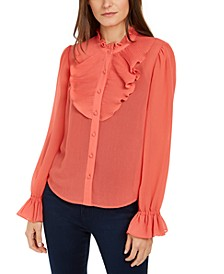 INC Ruffle-Detail Blouse, Created for Macy's