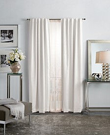 "Martha Stewart Park Avenue Metallic 37"" x 84"" Blackout Curtain Set"