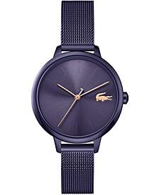 Women's Swiss Cannes Purple Stainless Steel Mesh Bracelet Watch 34mm
