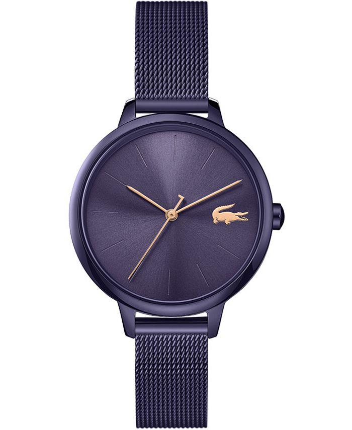 Lacoste - Women's Swiss Cannes Purple Stainless Steel Mesh Bracelet Watch 34mm