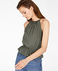 INC EARTH Solid Halter Top, Created for Macy's