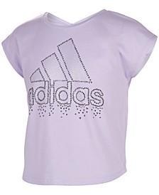 Big Girls Cropped V-Back T-shirt