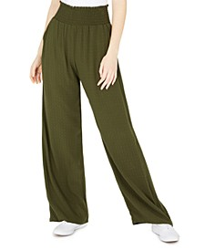 Bebop Juniors' Smocked Wide-Leg Pull-On Pants