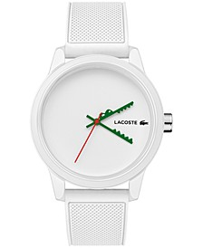 Men's 12.12 Swiss White Silicone Strap Watch 42mm