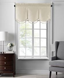 "Colette Faux Silk Tassel Scallop Window Valance, 48""x21"""