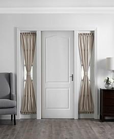 "Colette Faux Silk 28"" x 72"" Sidelight Door Window Panel"