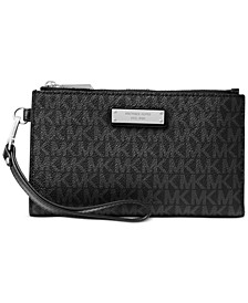 Signature Jet Set Double-Zip Wristlet