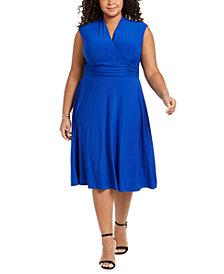 Jessica Howard Plus Size Ruched-Waist Dress