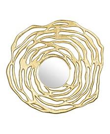Aqua Round Mirror