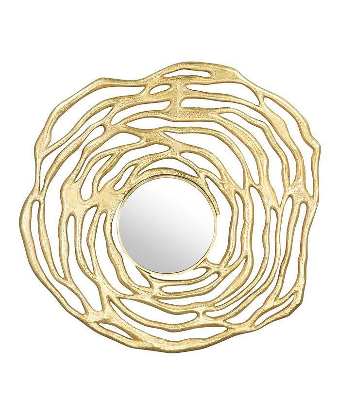 Zuo - Aqua Round Mirror Gold