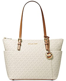 Signature Jet Set East West Top Zip Leather Tote