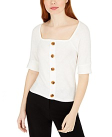 Juniors' Embellished Top