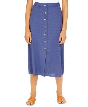 Bcx Juniors' Button-Trimmed Midi Skirt