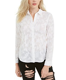 Frederica Burnout-Print Shirt