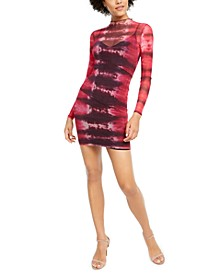 Nadine Sheer Printed Bodycon Dress