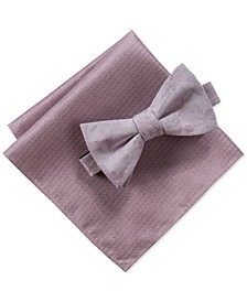 Men's Pascal Floral Bow Tie & Pocket Square Set, Created for Macy's