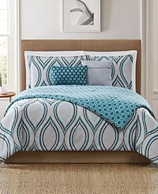 Logan 5-Piece Full/Queen Comforter Set
