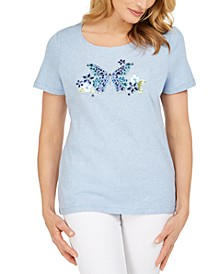 Lola Cotton Rhinestone-Butterfly Top, Created for Macy's