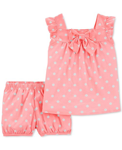 Carter's Toddler Girls 2-Pc. Dot-Print Tank Top & Shorts Set