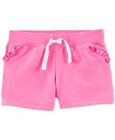 Toddler Girls Ruffle-Trim Cotton Shorts