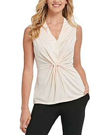 V-Neck Center-Knot Top