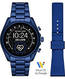 Access Unisex Gen 5 Bradshaw Blue Aluminum Bracelet & Blue Silicone Strap Touchscreen Smart Watch 44mm Gift Set