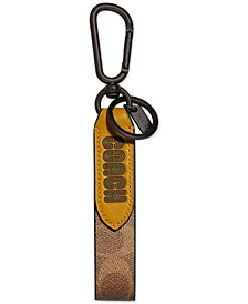 Colorblocked Leather Keychain